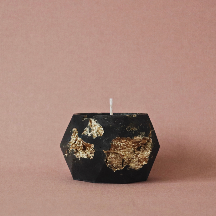 Obsidian Goldstruck | Poly Candle