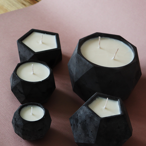 Obsidian Concrete | XL Poly Candle