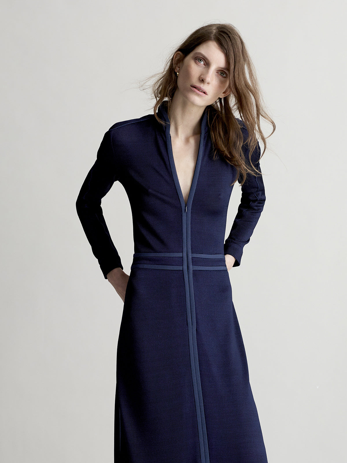 Ana Maxi Dress, Navy - Sykes London