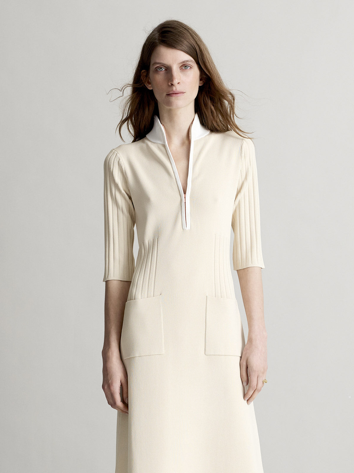 Natalia Midi Dress, Cream - Sykes London