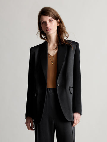 Amber Black Blazer - Sykes London