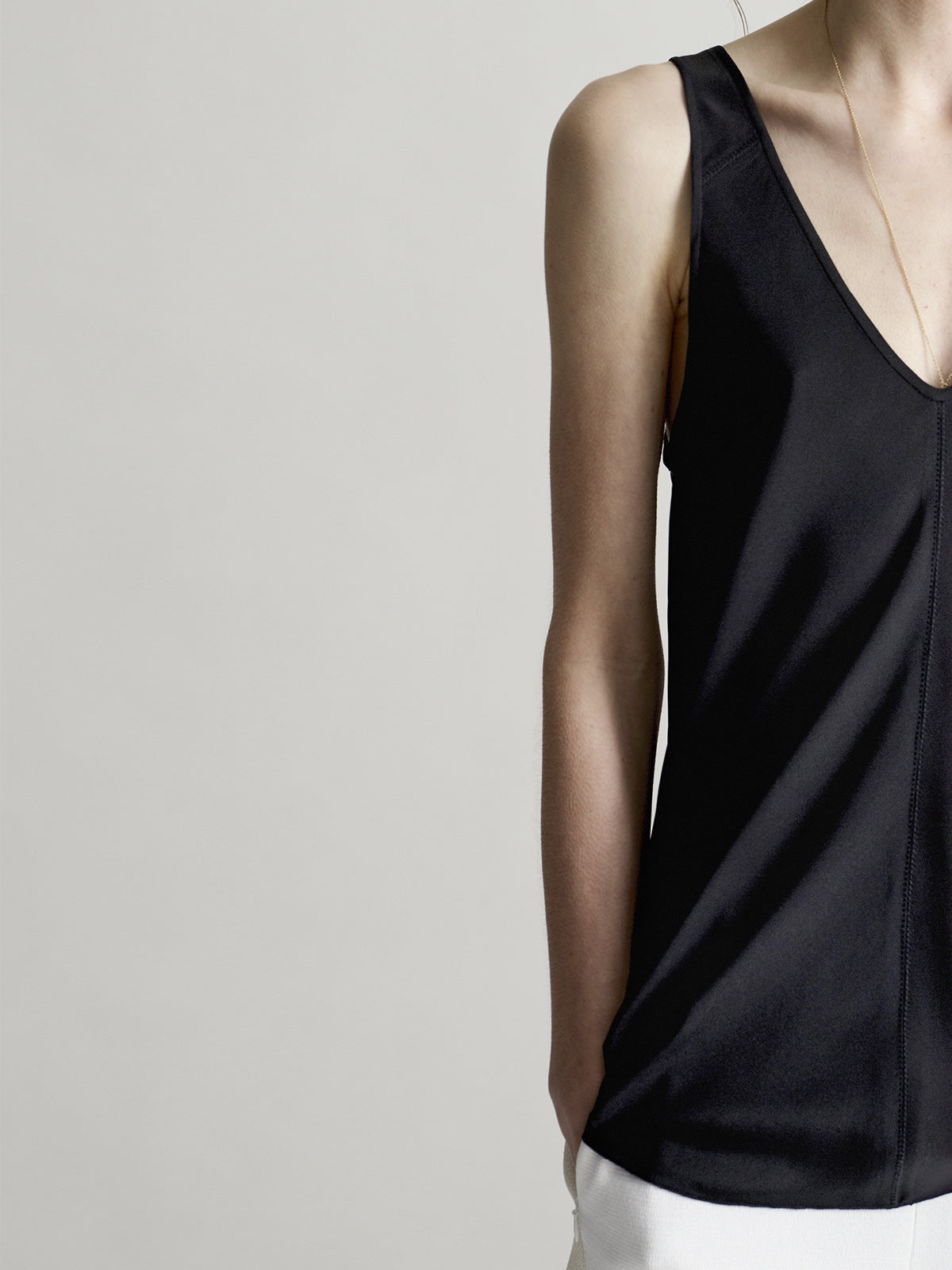 Josie Black Bias Vest - Sykes London