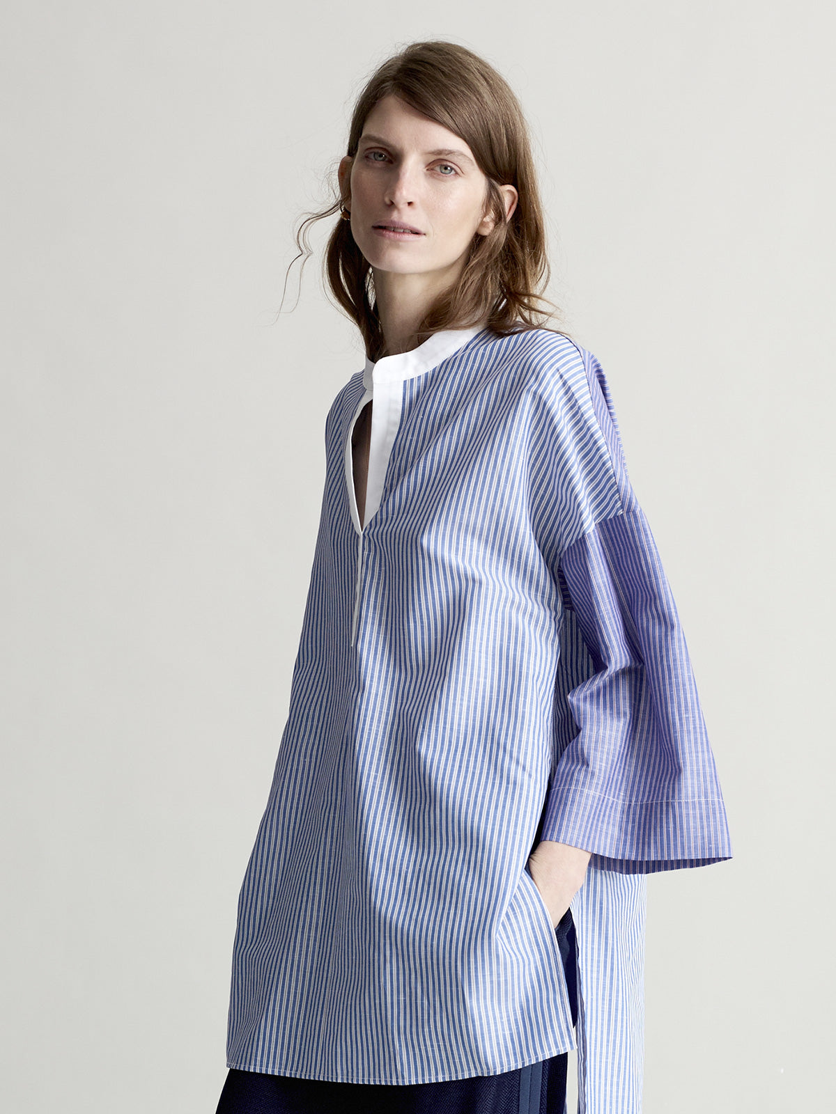 June Blue Stripe Shirt - Sykes London