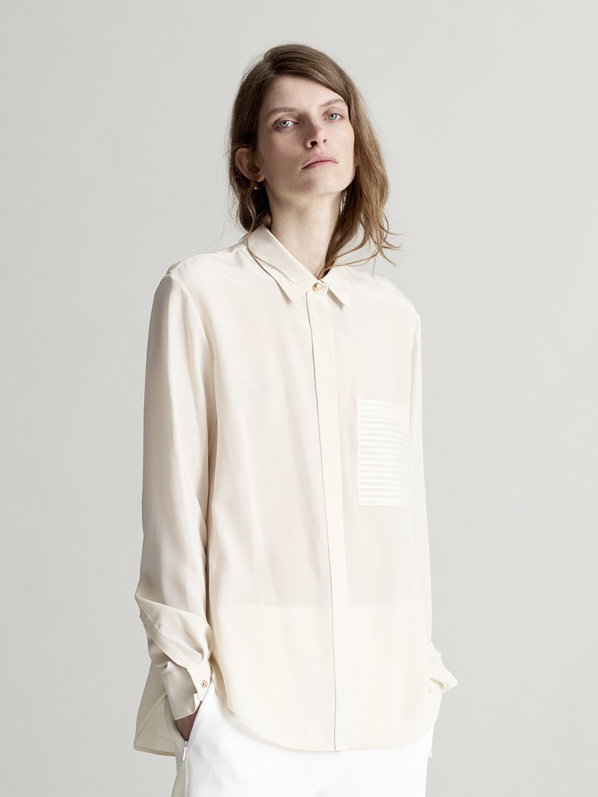 Logan Boyfriend Shirt, Ivory - Sykes London