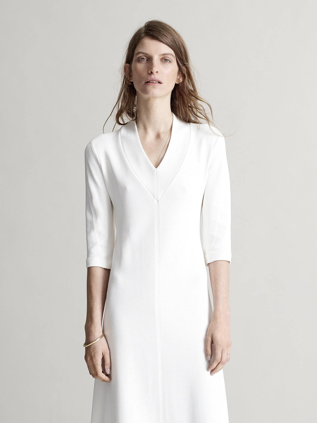 Emery Ivory Dress - Sykes London