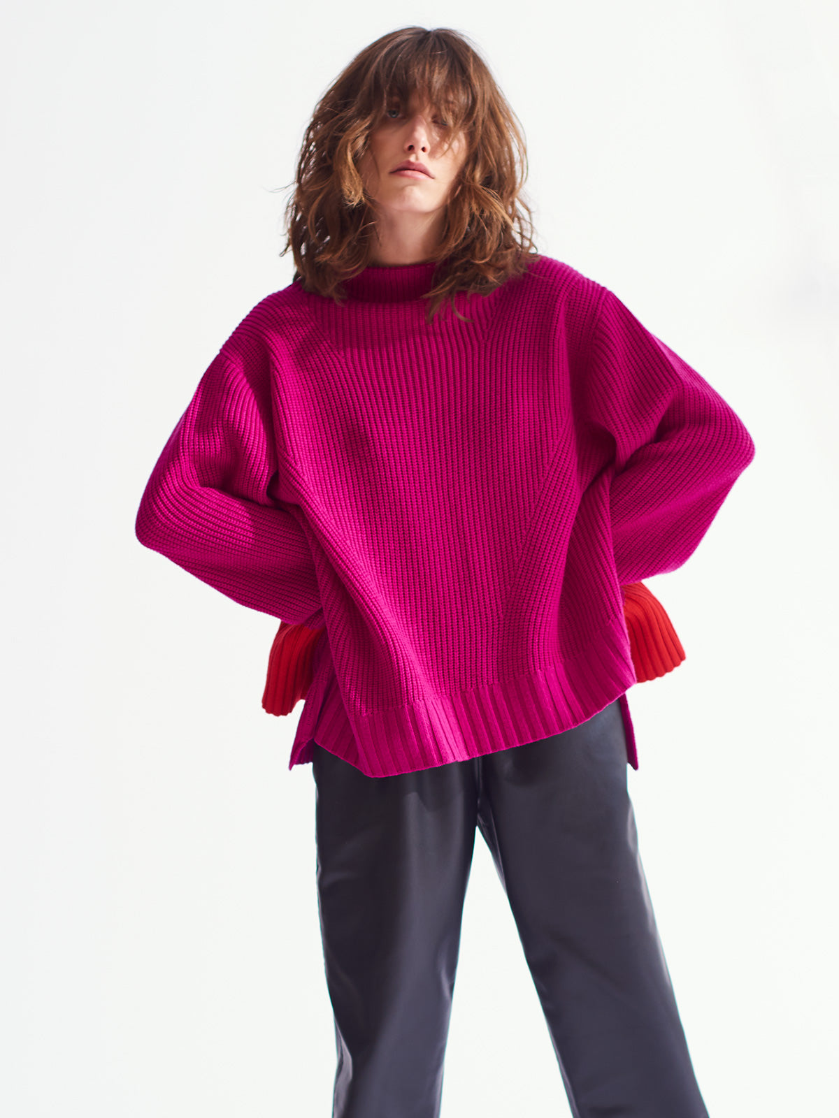 Frankie Sweater, Magenta - Sykes London