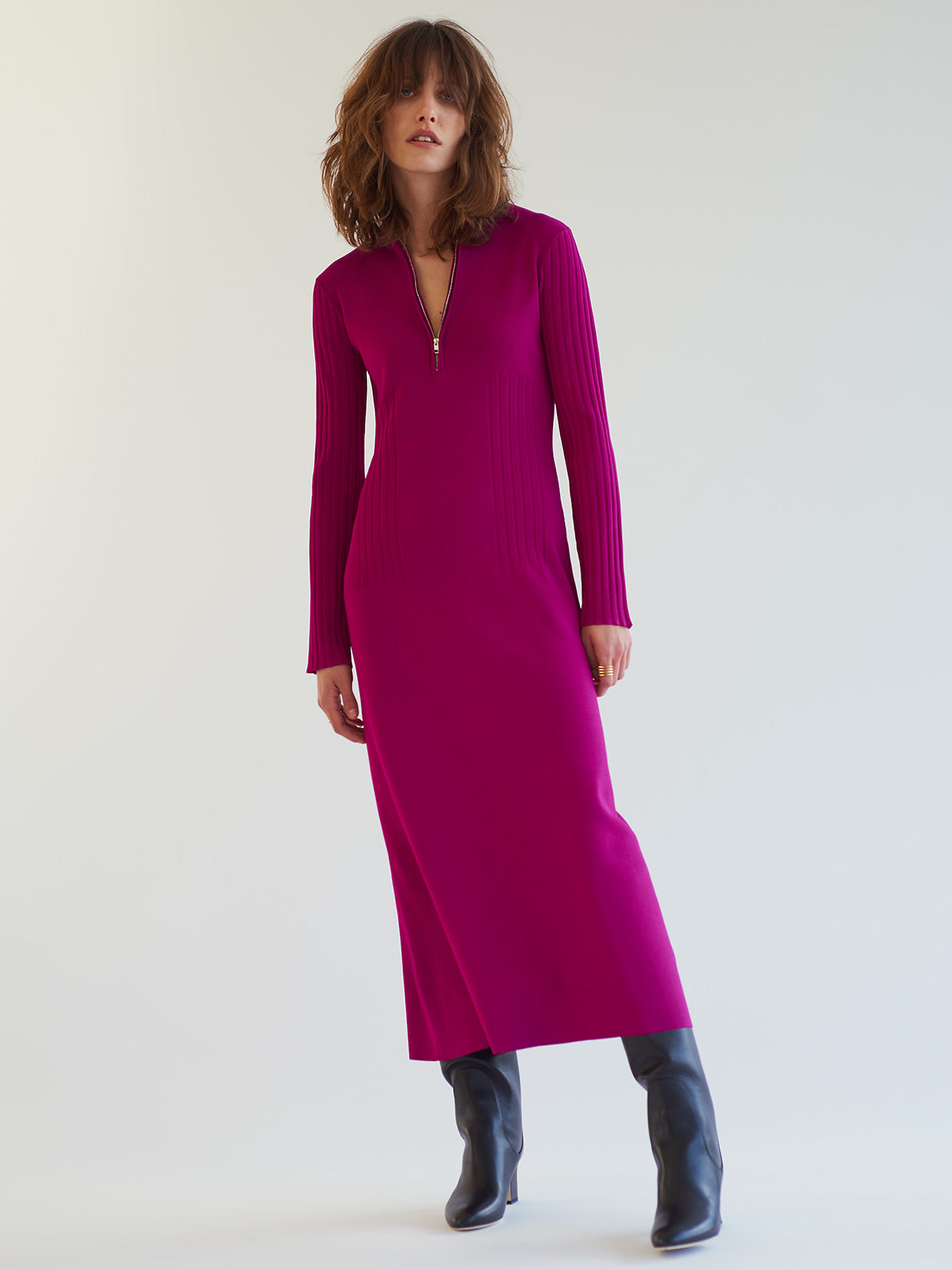 Kelly Dress, Magenta - Sykes London