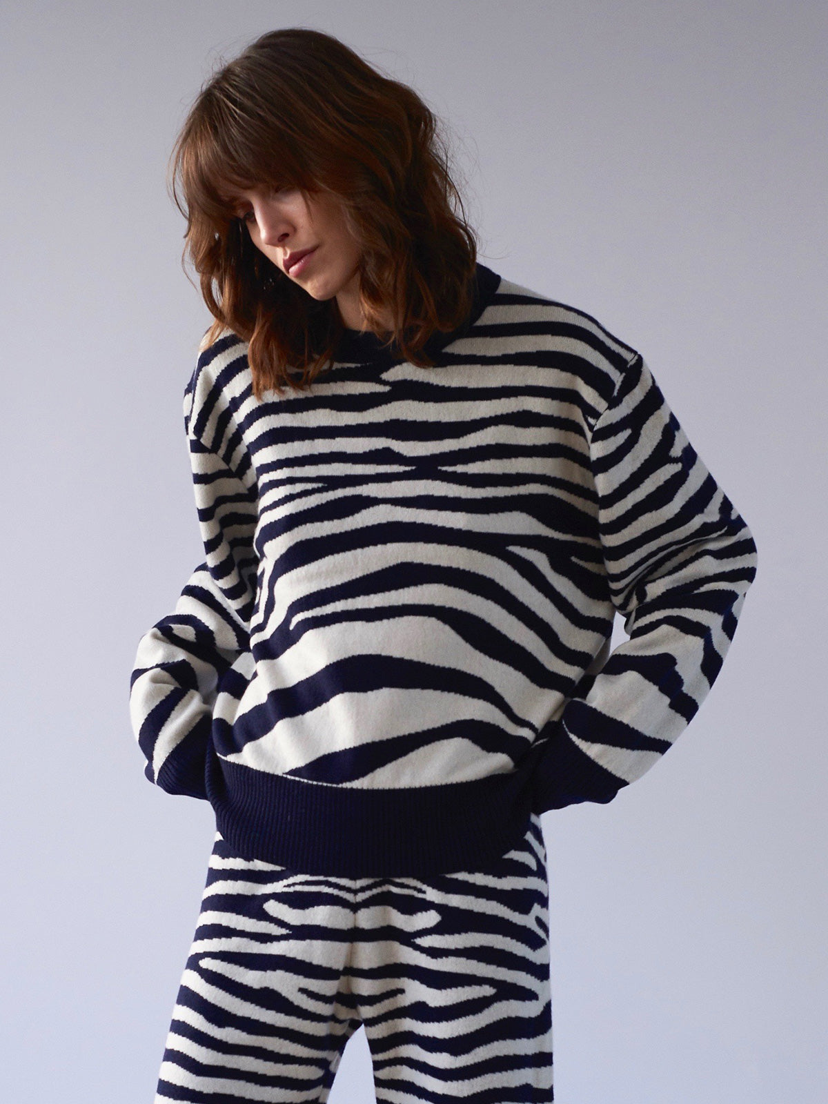 Phoebe Zebra Sweater - Sykes London