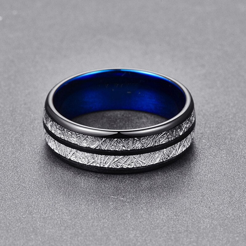 Meteorite Ring - Black & Blue