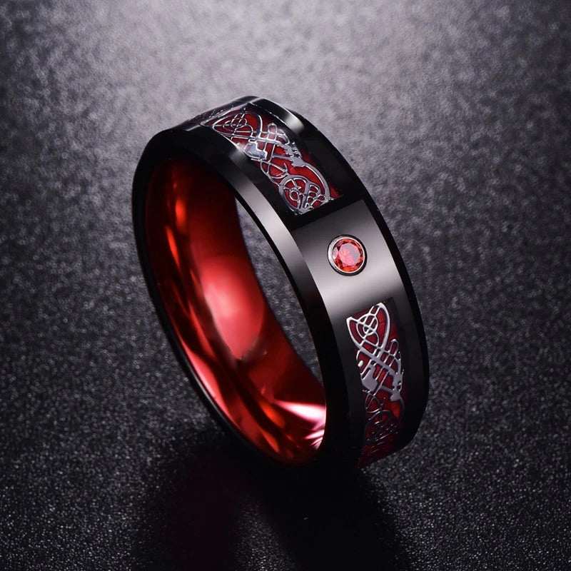 Crystal Dragon Ring - Red