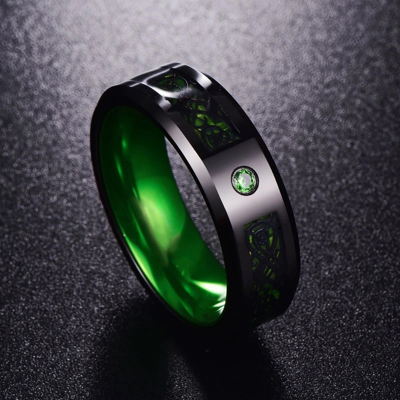 Crystal Dragon Ring - Green