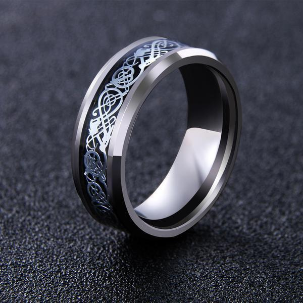 Dragon Ring - Silver - Silk & Cotton