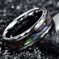 Silver Faceted Abalone Ring (FREE)