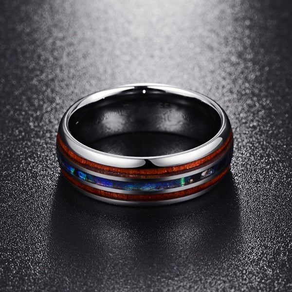 Hawaiian Abalone Wood Ring (FREE)