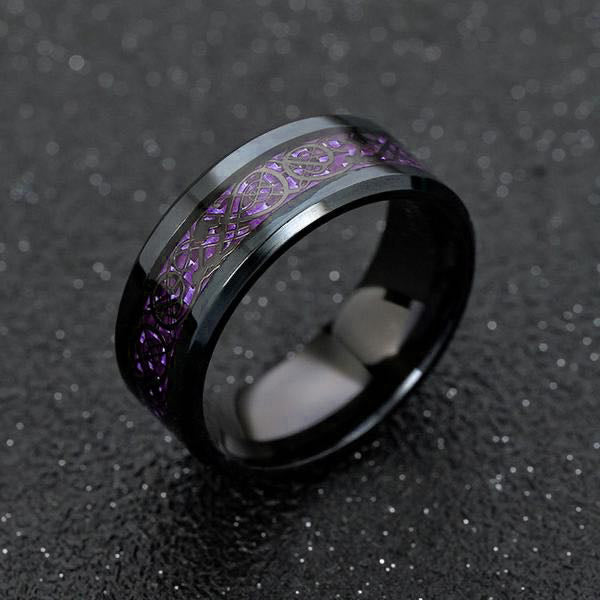 Dragon Ring - Purple & Black