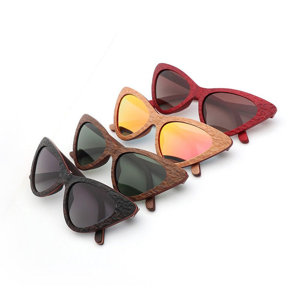 Wooden Sunglasses: Cateye