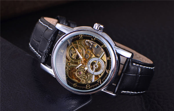 Steampunk Skeleton Mechanical Watch - Silk & Cotton