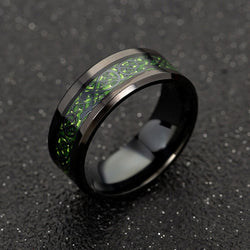 Dragon Ring - Green & Black - Silk & Cotton