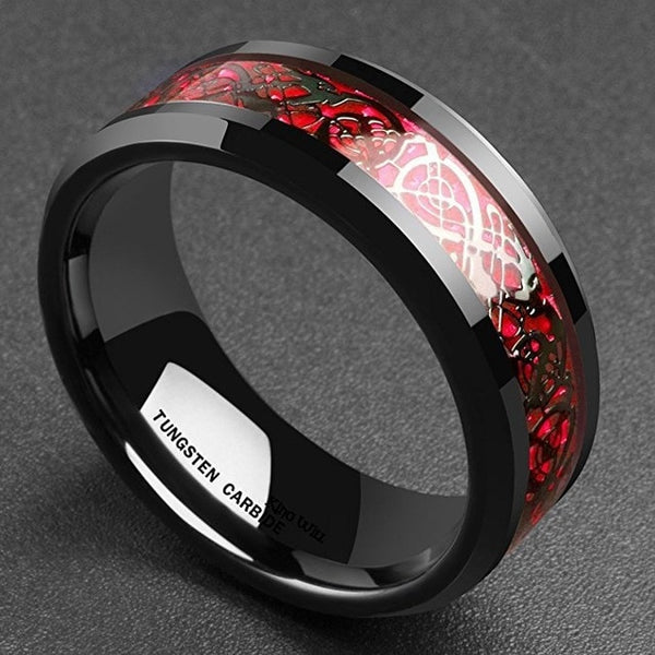 Dragon Ring - Red & Black - Silk & Cotton