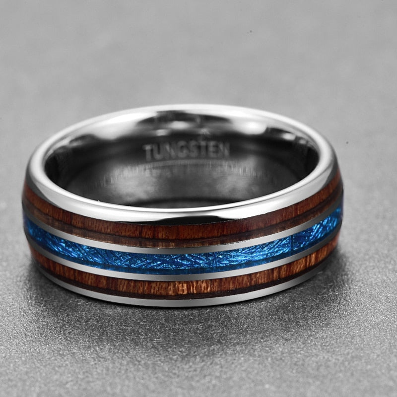 Abalone Koa Ring - Silk & Cotton