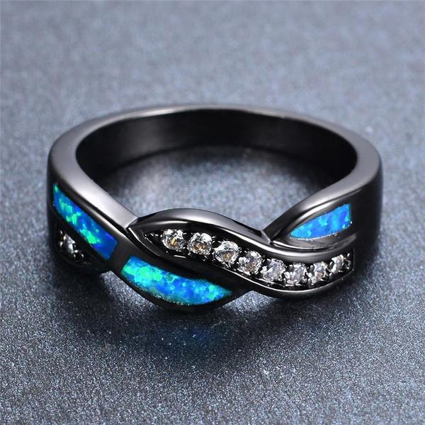 Ocean Fire Opal Ring - Silk & Cotton