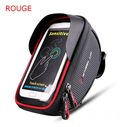 Sacoche smartphone pour guidon - rouge