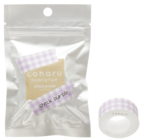 Coharu Tape Check Purple