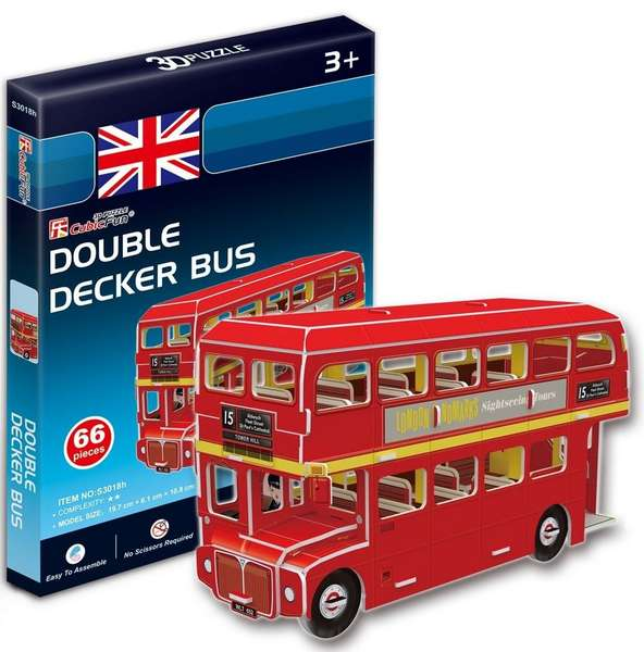 CubicFun Double Decker Bus (66pcs)