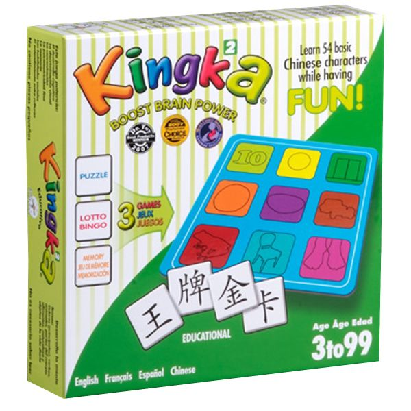 Kingka Chinese Matching and Memory Game 2 (Chinese-English-French-Spanish, Simplified Chinese)