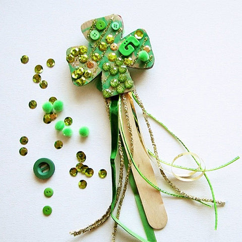 St. Patrick's Day DIY Shamrock Wand