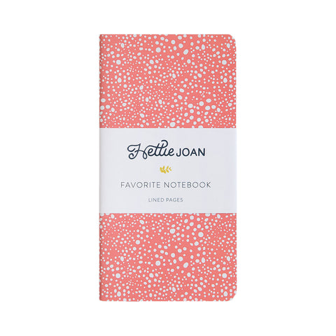 Coral Favorite Notebook