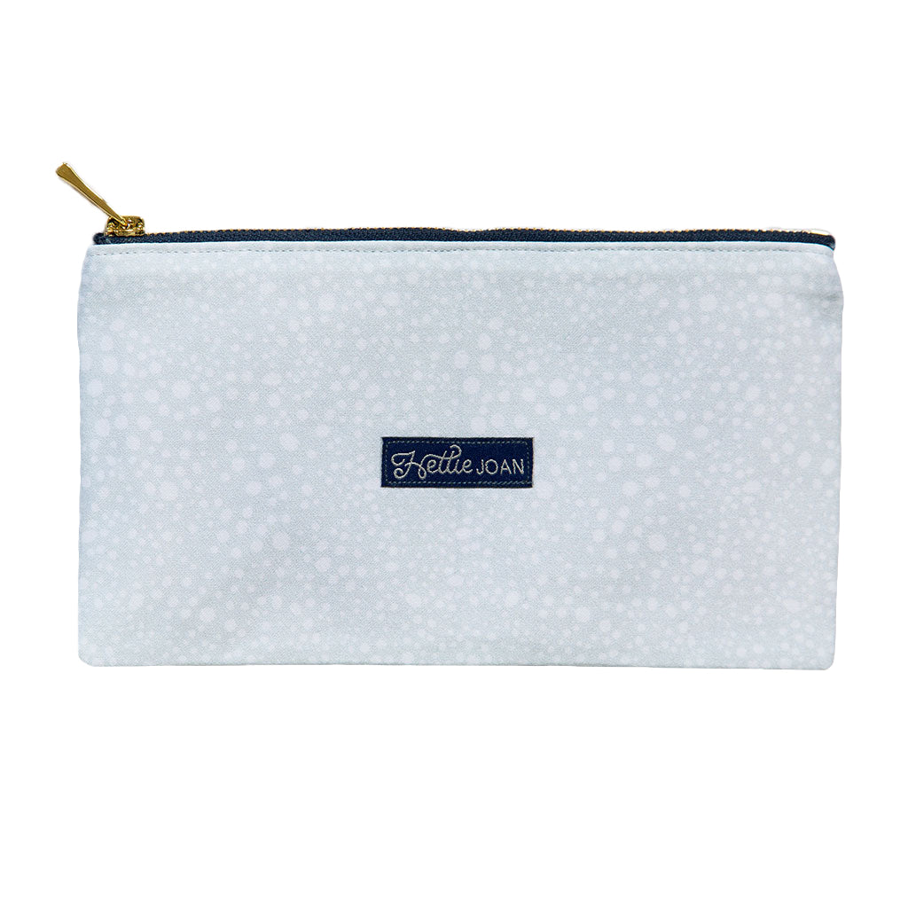 Gray Pebbles Medium Pouch