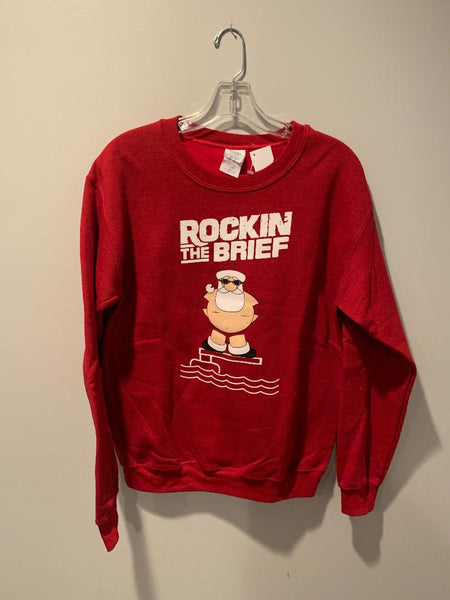 Red SQ Holiday Sweat Shirt Size: S