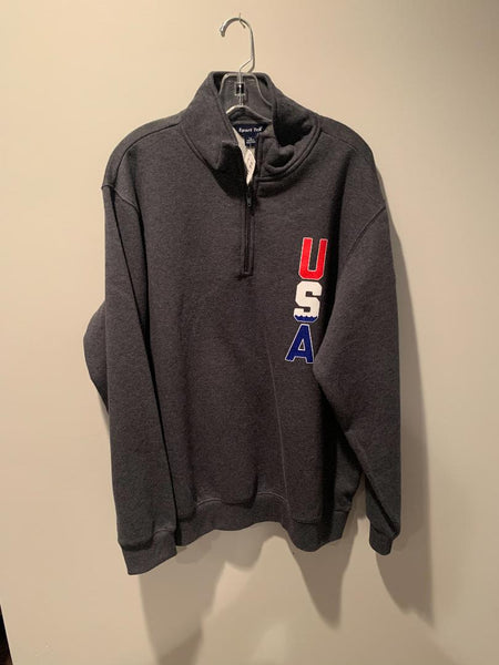 Grey SQ USA Quarter Zip