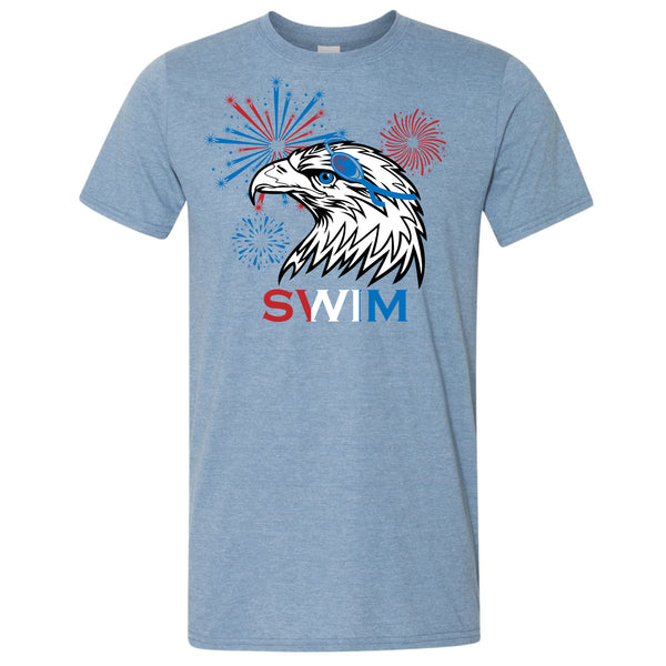 Patriotic Eagle Swim T-Shirt