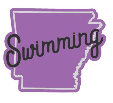 Arkansas Swimming Sticker