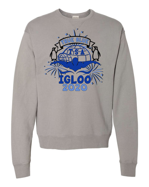 True Blue Igloo Crewneck