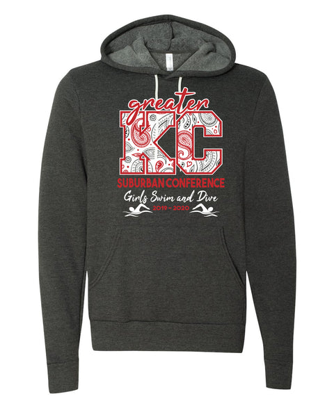 Red and White Division Hoodies