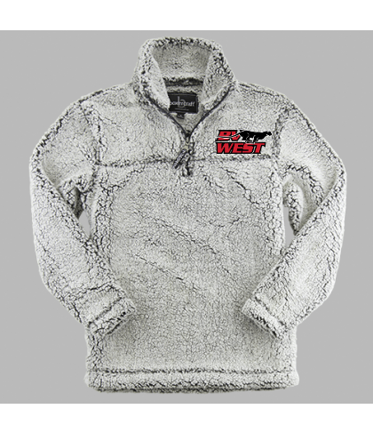 Blue Valley West Quarter Zip Sherpa Pullover