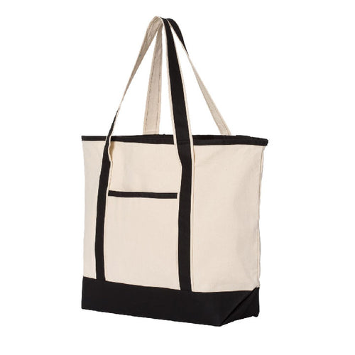 Large Canvas Tote - Customizable