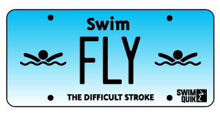 Breaststroke License Plate Sticker
