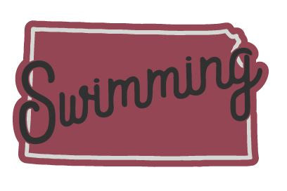 Kansas Swimming Sticker