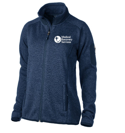 Medical Recovery Services Ladies Sweater Fleece Full Zip