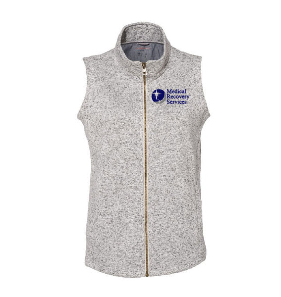 Medical Recovery Services Ladies Sweater Fleece Vest