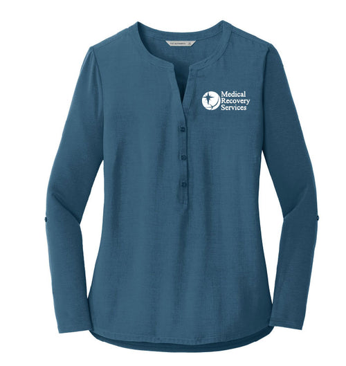 Medical Recovery Services Ladies Henley Tunic