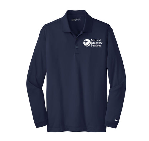 Medical Recovery Services Dry Fit Long Sleeve Polo