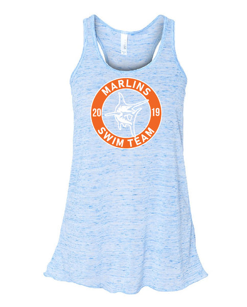Marlins Swim Team Women's Flowy Racerback Tank