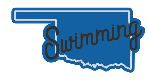 Oklahoma Swimming Sticker