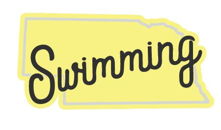 Nebraska Swimming Sticker