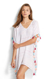 White Stripe| Seafolly Multi Stripe Kaftan